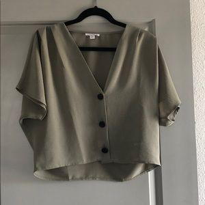 Topshop olive green blouse